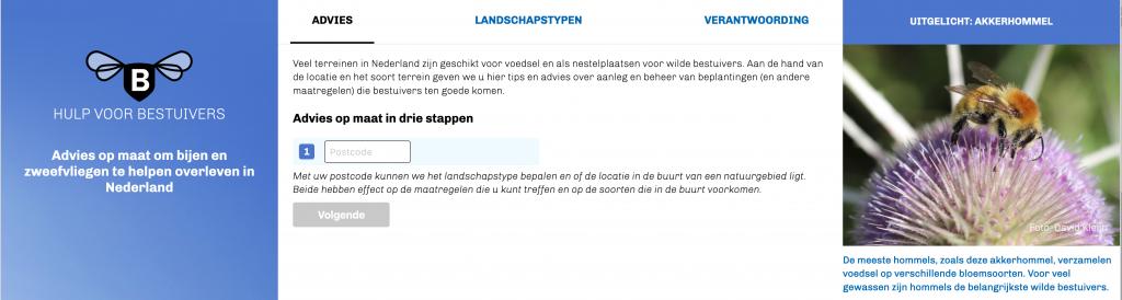 Screenshot hulpvoorbestuivers.nl, advies op maat in 3 stappen