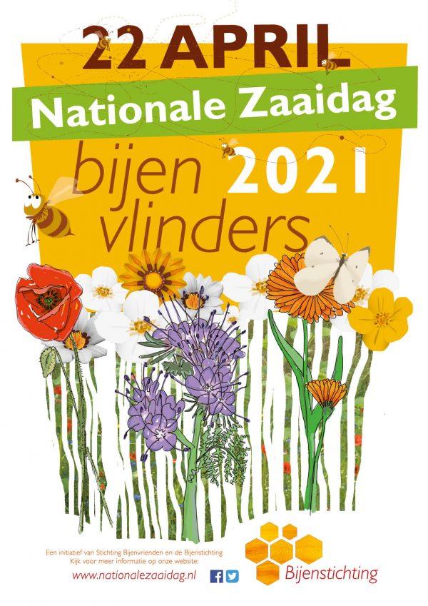Actieposter Bijenstichting nationale bijentelling 2021